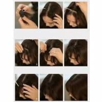 hair clip poni tipis / poni korea / clip poni depan samping