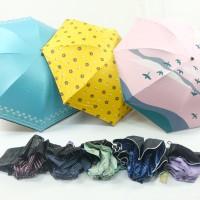 Payung Lipat 3 Korea Lapisan Hitam ANTI UV 100% Fashion BEST No.1-301