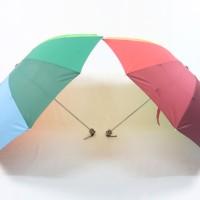 Payung Lipat 3 Korea Sutra Pelangi Jumbo