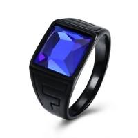 Cincin Batu Blue Safir Octagon