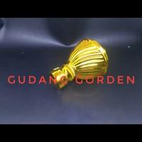 End Cup / Tutup Rel Bulat Elok Gold