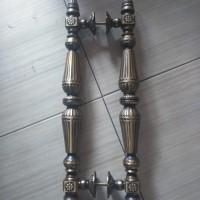 Brass Pull Handle / Handle Pintu Menara Kuningan Motif Ukir 60 cm