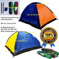 Tenda Gunung Dome Kapasitas 3 orang, Tenda Lipat Anti UV Tenda Kemping