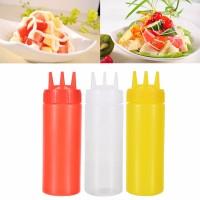 3 Lubang Memeras Botol Bumbu Dispenser Saus Botol Saus Tomat Salad Cru