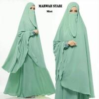 Gamis Syari Marwah Mint Plus Niqab/Cadar