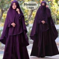 Gamis Syari Hanum Ungu plus Niqab/Cadar