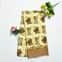Kain batik Motif Bunga KBS45 Bahan Semi Sutra Pakaian Panjang Custom a84db1b142