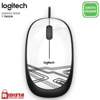 Logitech M105 Mouse Kabel Original ( L068 ) Warna Putih