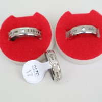 cincin TITANIUM SILVER i love u COUPLE