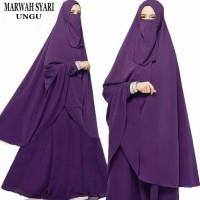 Gamis Syari Marwah Ungu Plus Niqab/Cadar