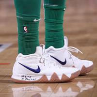 7e748ed2cea3 Sepatu Basket Nike Kyrie 4 White Uncle Drew Premium Original Sneakers