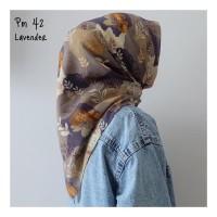 kerudung motif segi empat / kerudung motif murah / hijab motif lucu