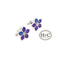 houseofcuff cufflink kancing manset BLUE FLOWER CUFFLINKS