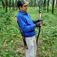 Busur Panah Paket Lengkap Arrow Fiber Arm Guard Bantalan