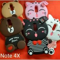 Gress... Case 4D Xiaomi Redmi Note 4X Xiomi Karakter Soft Silicon 3D