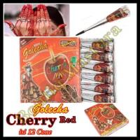 HOT SALE Golecha Henna Cherry Red isi 12 cone Gold Series Mahendi