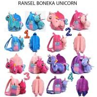 Tas Anak PAUD Ransel Boneka Unicorn Bahan Yelvo Halus dan Lembut