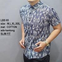 Harga promo baju kemeja batik slim fit casual formal fashion slimfit | Pembandingharga.com