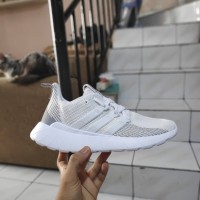 adidas questar flow triple white 100% ORIGINAL DAN LEGIT