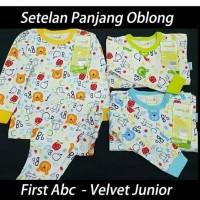 baju tidur setelan piyama panjang velvet junior first abc 6 & 7 anak