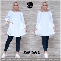 Atasan blouse wanita putih size M L jumbo