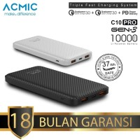 ACMIC C10PRO 10000mAh PowerBank Quick Charge 3.0 Type C Fast Charging