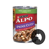 alpo 374 gr prime cuts with lamb and rice in gravy