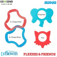 Dr Brown's Flexees Friends Silicone Teether Mainan Gigitan Bayi Browns