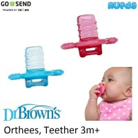 Dr Brown's Orthees Transition Teether Gigitan Bayi 3m Browns