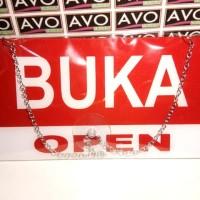 Harga sign label acrylic buka tutup open close besar toko ruko jualan | antitipu.com