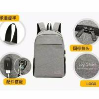 Ransel Smart Backpack USB Free Selempang Sling Pria Wanita Ready Stock