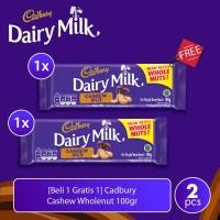 [Beli 1 Gratis 1] Cadbury Cashew Wholenut 100gr