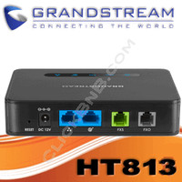 Grandstream HT813 - 1FXO and 1FXS ATA with Dual Gigabit NAT Router