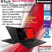 LENOVO ThinkPad T480 HID Intel Core i5-8250U/8GB/1TB/Win10Pro