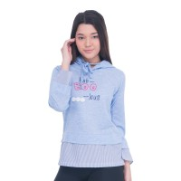 Sweatshirt Sweater wanita Metalizer girl 1181 Babyterry Misty Salur