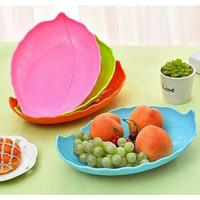 Piring Snack Dan Buah Cantik Motif Daun peralatan makan - HPD183