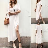 [Bayar Di Tempat]Long Dress Maxi Boho Casual untuk Pesta Malam