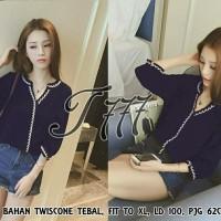 blouse padi navy
