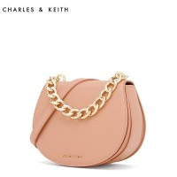Harga sag4327 pink charles and keith gradient stripe metal chain saddle | antitipu.com