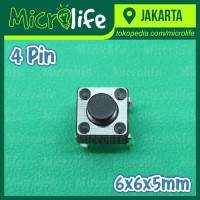 Micro Switch Push Button 4 Kaki 6x6x5 mm