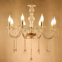 Lampu Gantung Gold Acrylics 8 Head Candelabras Chandelier Lampu Pesta