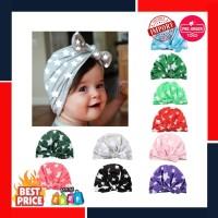 Indah Bintang Percetakan Lembut Topi Bayi Kelinci Telinga Simpul