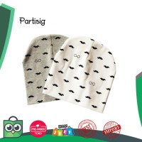 Partisig merek topi kumis printing bayi beanie topi bayi katun topi