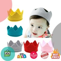 Musim Dingin Bayi Topi Mahkota Pola Warna Solid Bayi Fotografi Alat