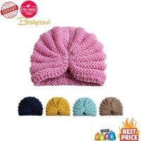 Rajutan Musim Dingin Topi Bayi Permen Warna Elastis Bayi Topi Beanie