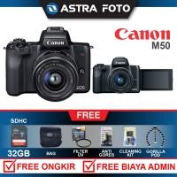CANON EOS M50 / CANON M50 KIT 15-45 PAKET 32GB KAMERA MIRORRLESS