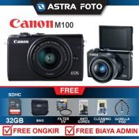 CANON EOS M100/CANON M100 Kit 15-45mm Paket 32gb DAHSYAT !!