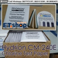 Hydrion CM240E Chlorine Test Paper 0-200ppm - Tes Kit Klorin Cl