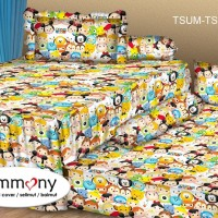 Tommony Sprei Sorong 2 in 1 - Tsum Tsum