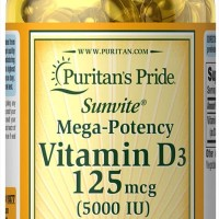 Puritans Pride Vitamin D3 5000 IU isi 100 butir